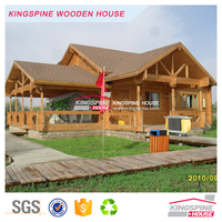 New Prefab Wooden home 3-bedroom design with terrace Log Cottage 129.64 m2 KPL-030