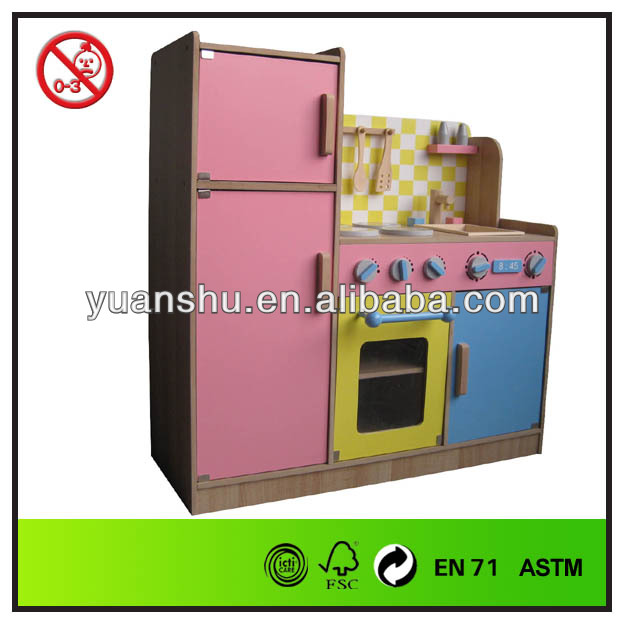 pink best seller high quality wooden kitchen toy