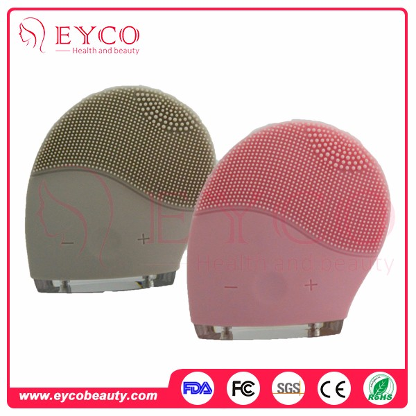 Hot Selling Electric Sonic Silicone Waterproof Facial Face Cleansing Brush Massager