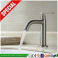 Stainless steel body bathroom wash basin faucet/water push tap SRBF1602