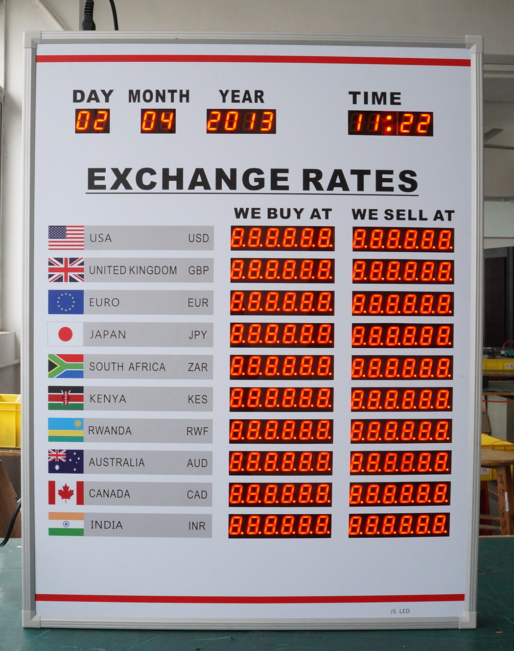 BTR-845H65L-2 BABBITT 10 Rows and 2 Columns Currency exchange rate board display