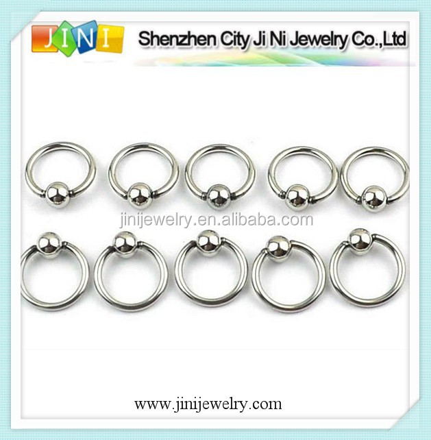 piercing ball closure ring