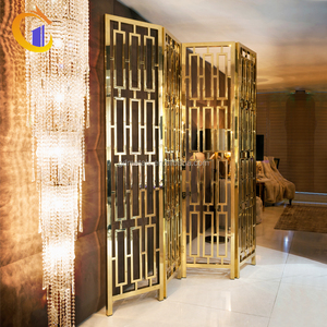 Extra Tall Room Divider Folding Privacy Screen Movable Cheap Partition Wall For Art Gallery