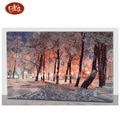 Beautiful Winter Snowy Scenery LED Lighted Art Canvas Painting
