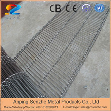 flexibility stainless steel screen mesh food grade flat flex wire belt with chain edge