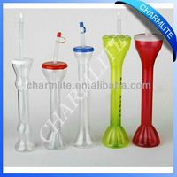 novelty plastic drinking cups plastic cups with lids and straws kids drinking cups with straw (sc004)