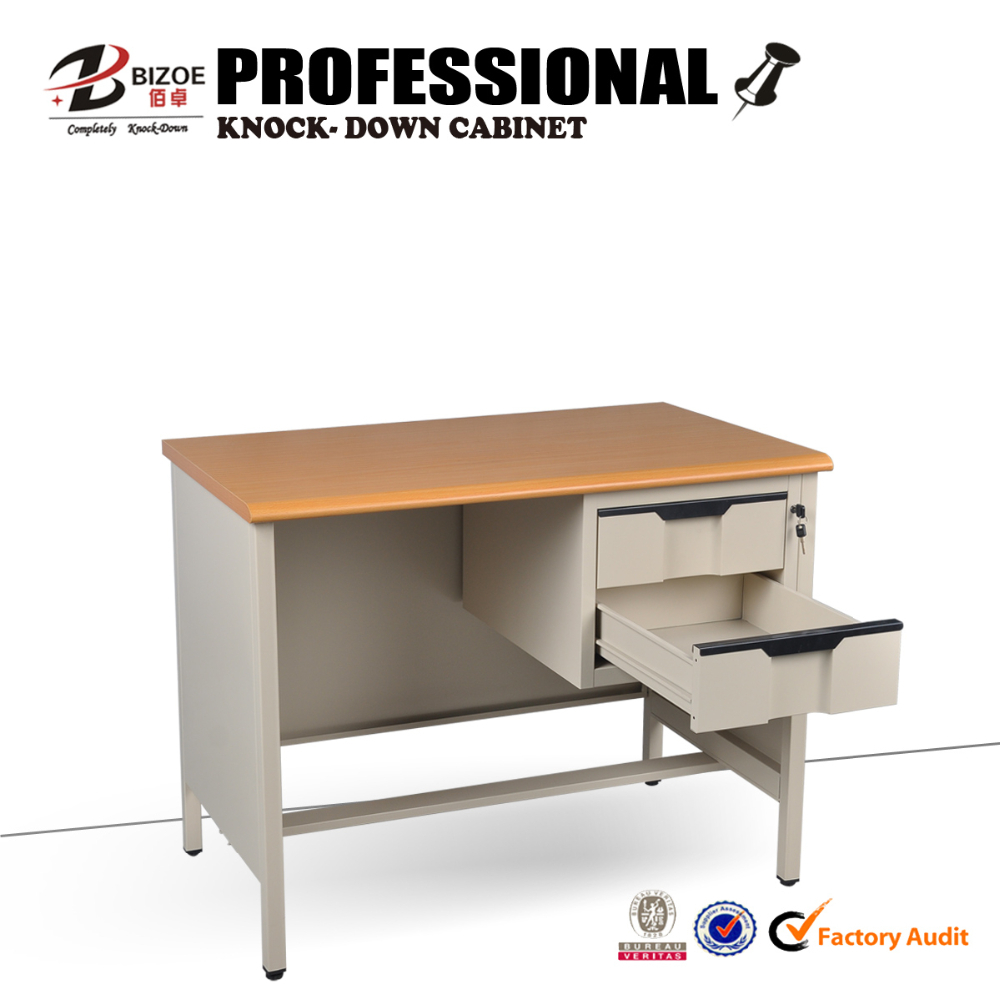 China simple modern design KD structure bed wardrobe computer table