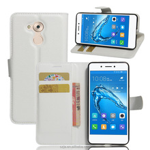 Flip open white PU Leather holster cover mobile phone case for huawei honor 6c