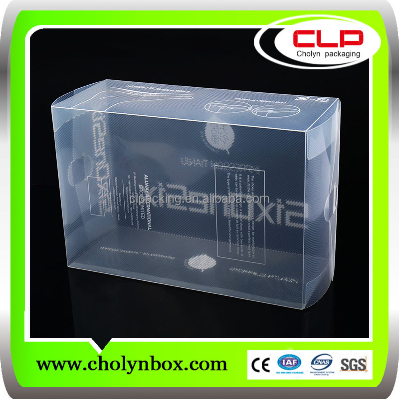 Customized Clear Plastic Shoe Box Packaging