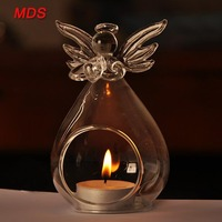 Holiday christmas decoration angel hanging glass candle holder