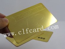 Popular design picture embossed brass metal card