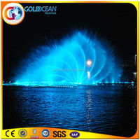 Suzhou Lake Floating Dancing Water Fountain Water Sphere