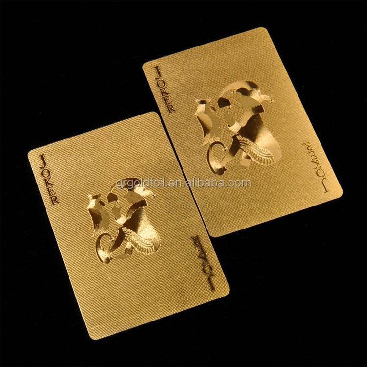 Gold plastic bicycle playing cards new US dollar banknotes playing cards