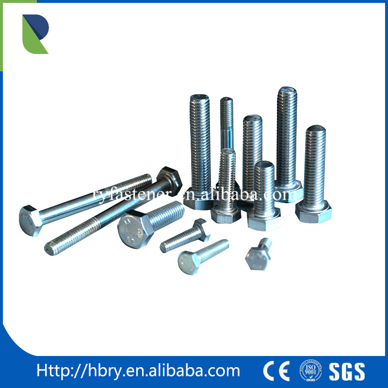 bolt m7 m10 m13 Zinc Plated Metal Bolt