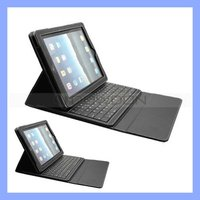 For iPad 2 2nd Gen Black Stand Leather Case Cover with Bluetooth Keyboard