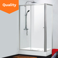 Aluminum frame sliding glass shower room shower enclosure cubicle