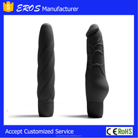 Black artificial vibrating picture with rubber penis
