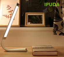 IPUDA Indoor battery operated lights foldable flexible led tablelamp/bedroom bedside reading light with touch sensor USB