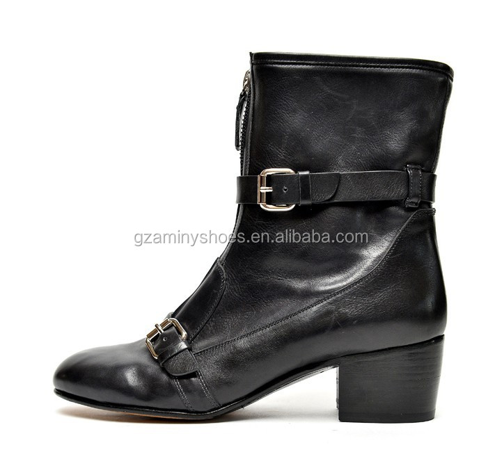 Canadian style women spring&autumn&winter ankle boots with back zipper riding boots