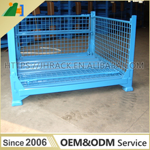 Supermarket warehouse Steel Wire Cage Foldable and Collapsible Container
