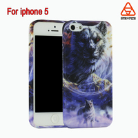 Fashion Style water transfer Colorful Painted Walf HD Clear Bumper TPU Hard Case Back Cover Protector Skin For Iphone 5 5s