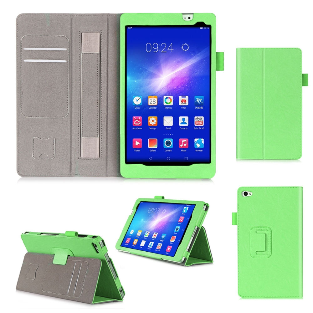 Custom Shockproof Tablet Cover Flip Leather Tablet Case With Card Holders For Huawei M2-801W