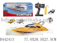 plastic toy rc BOAT W/CHARGER(3FUNCTION)