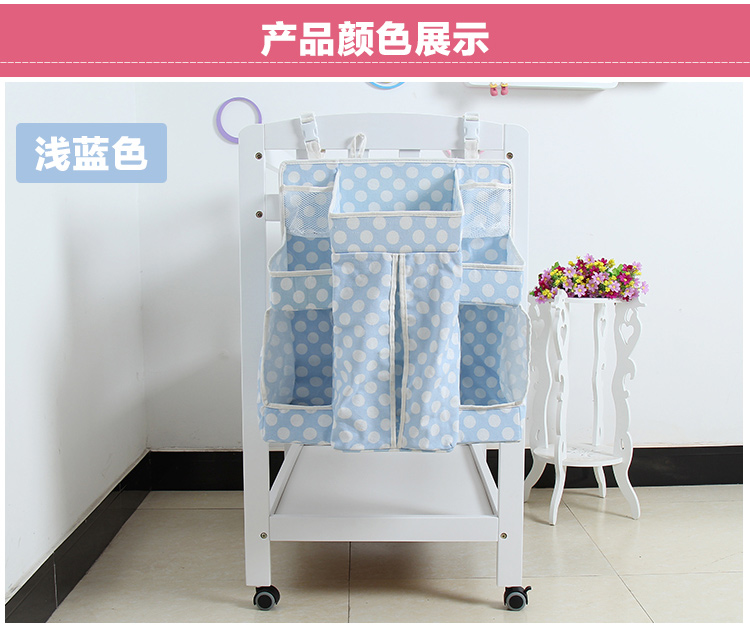 Baby can be washed Cotton canvas Storage Caddy, diaper organizer