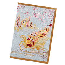 250 gms Unique Flashing Glitter Paper Gold Foil Deluxe Handmade Christmas Greeting Card Designs