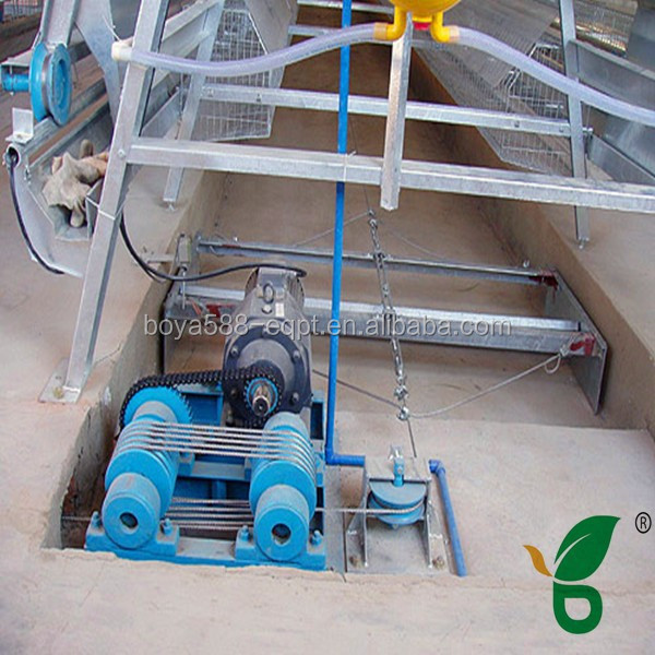 automatic poultry quail battery cage manure remove scraper machine