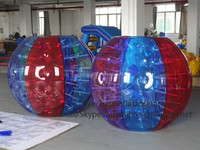 313009 color inflatable bumper body ball suit for human dodgems