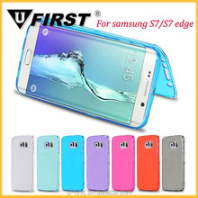 Transparent Clear Full Body Protective Soft Gel TPU Flip Case Cover for Samsung Galaxy S7/S7 edge