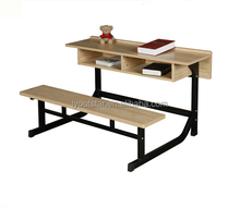 School Furniture Classroom Bench 2 Person Student Desk and Chair
