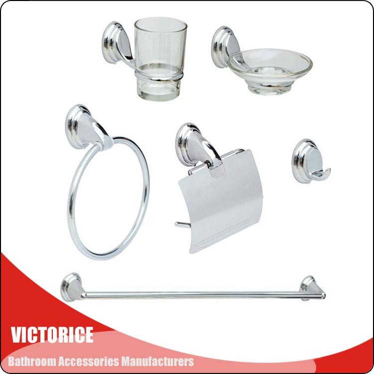 Zinc Alloy Bath Accessories Bathroom Set For Bathroom