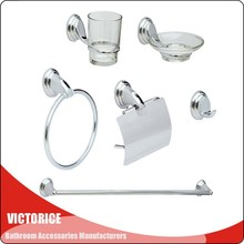 metal main material and bath hardware sets toilte sanitary ware bathroom accessories set sanitary fitting