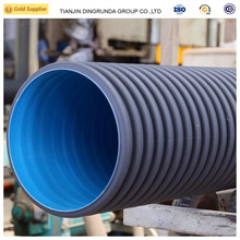 10 inch hdpe double wall corrugated PE drainage pipe hdpe plastic culvert pipe prices