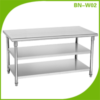 stainless steel work table supplier for food processing factory