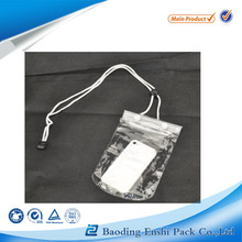 plastic lock Sealing & Handle and Accept Custom Order Pvc waterproof cell phone bag with plastic lock