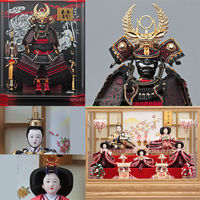 Tasteful and Japanese helmet samurai Hina Ningyo/Gogatsu Ningyo Doll for celebrations , Japanese goods also available