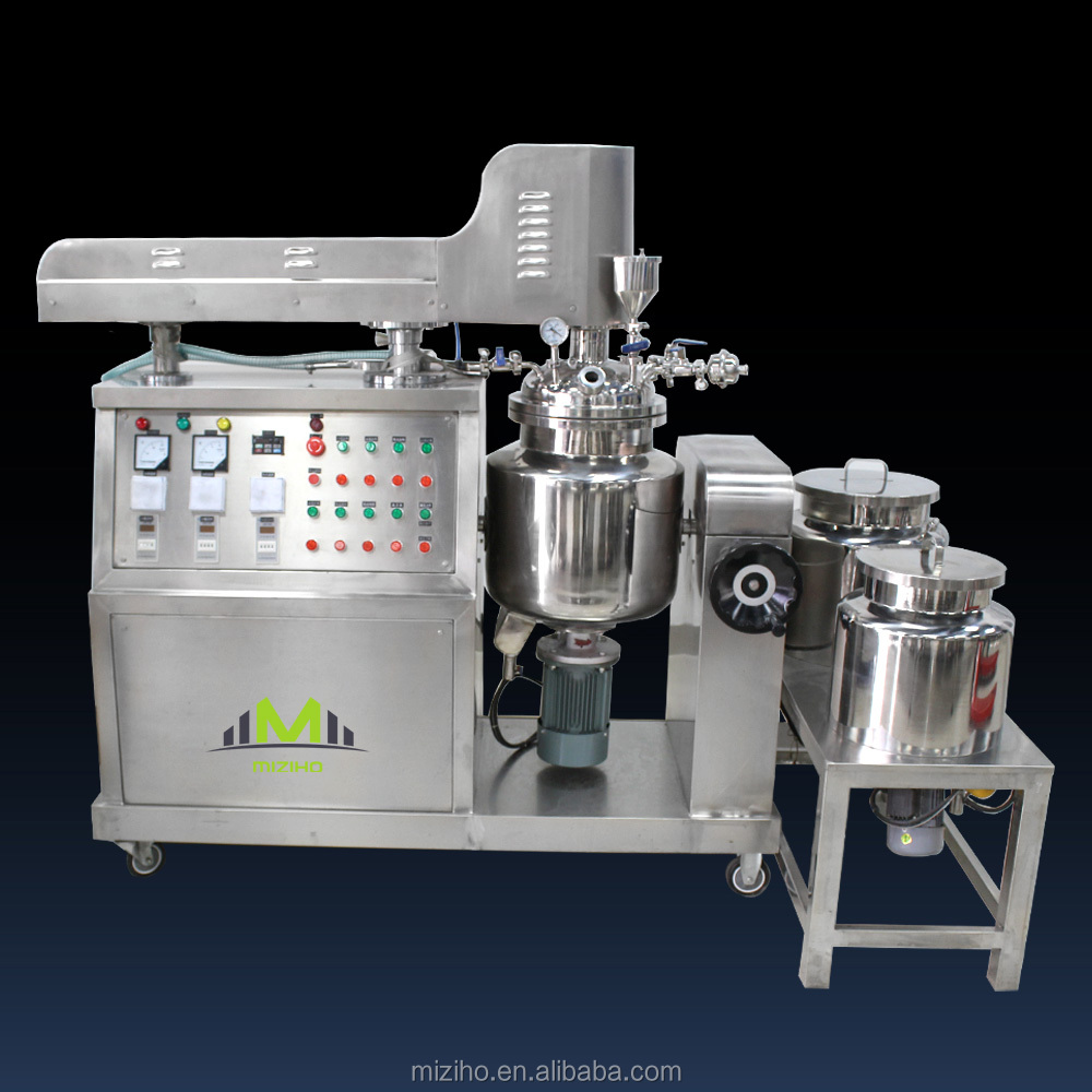 High quality cheap custom 50L Electric heating lab homogenizer, 2 way mixing vacuum emulsifying mixer