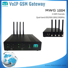 Enterprise using 4 port gsm gateway voip device