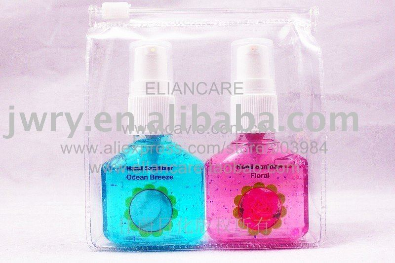 2PK HAND SANITIZER WITH LOTION PUMP POUCH PACK-NEW UPDAGING IN Dec. 2010!!!
