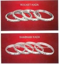 ethenic design silver bangle