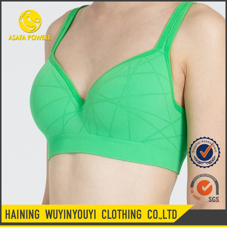 2017 New Skin-friendly Wear Adjustable Softshell Sports Bra for Sexy Girl