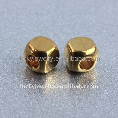 Brass Gold Filled Square Beads for Clothes