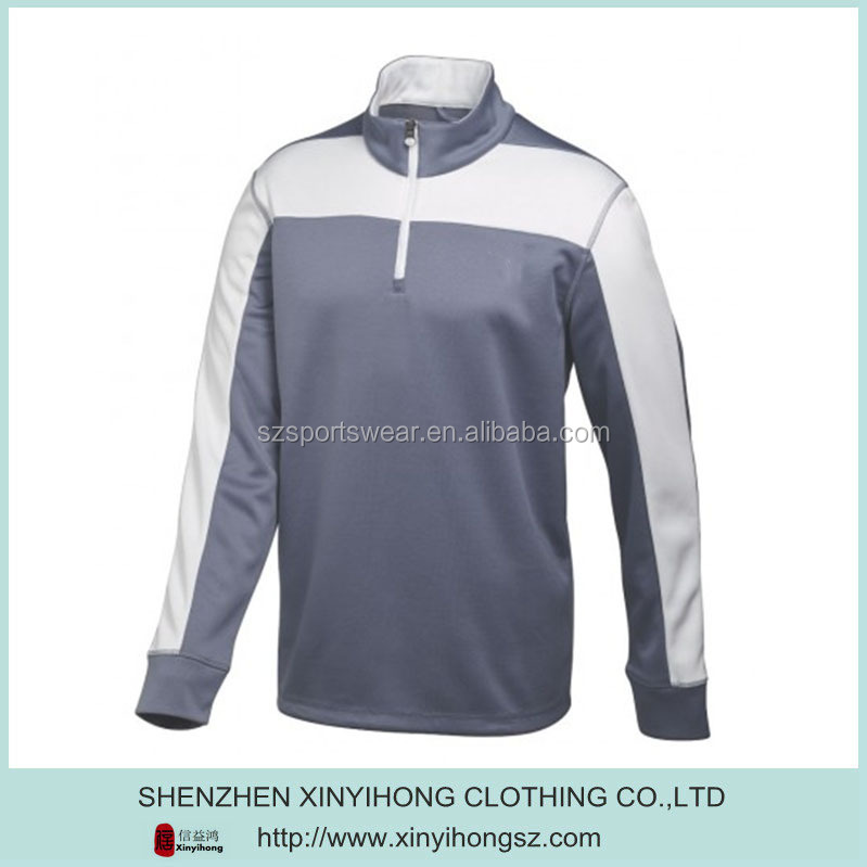 Full Zipper Personalized Silk mens 1/4 zipper sport Jacket