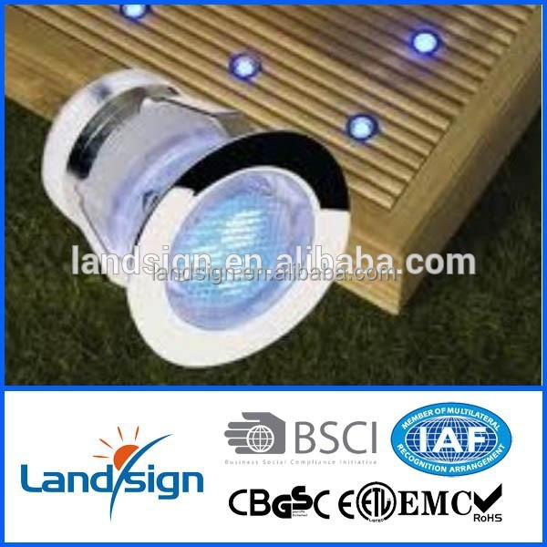 2016 cixi stainless steel and glass outdoor garden path lighting recessed led step deck light