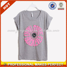 Casual loose fitting women's t- shirts
