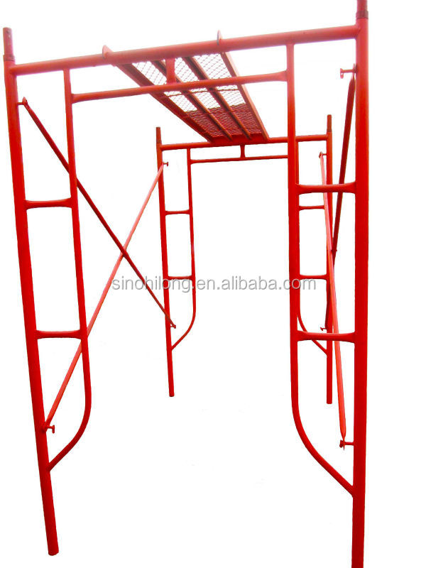 Construction Build Accessory Galvanized Steel Type Of Frame Scaffold