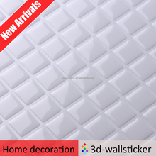 Simply peel and stick square pure white 3D wall sticker tile